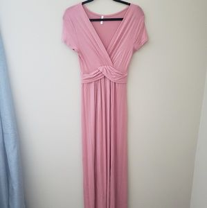 Pink Blush Short Sleeved Maxi